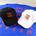 Kanye West Yeezy Yeezus Marca Eu SINTO COMO PABLO Impresso Tampas de moda Hip hop Streetwear Snapback Boné de Beisebol Preto Branco chapéus