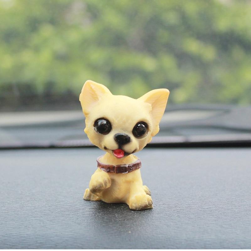 1 pack car cute nodding dog shaking head dog bobblehead dog doll car