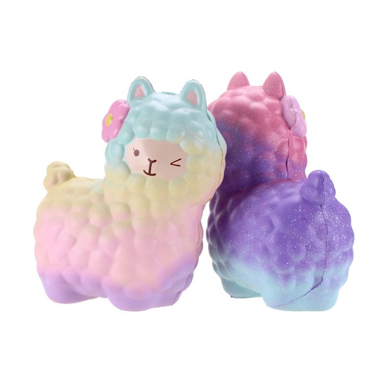 17cm Jumbo Alpaca Colorful Slow Rising Original Packaging Collection Gift Decoration Toy Anti stress Novelty Gags Stress Relief
