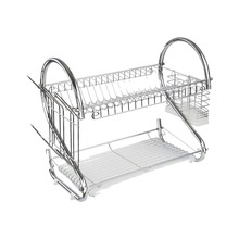 Magiclife Kitchen Organizer S Shape Dish Storage Rack Tableware Holder Dish Rack Chrome Iron Pallet Easy Pour Away The Water все цены