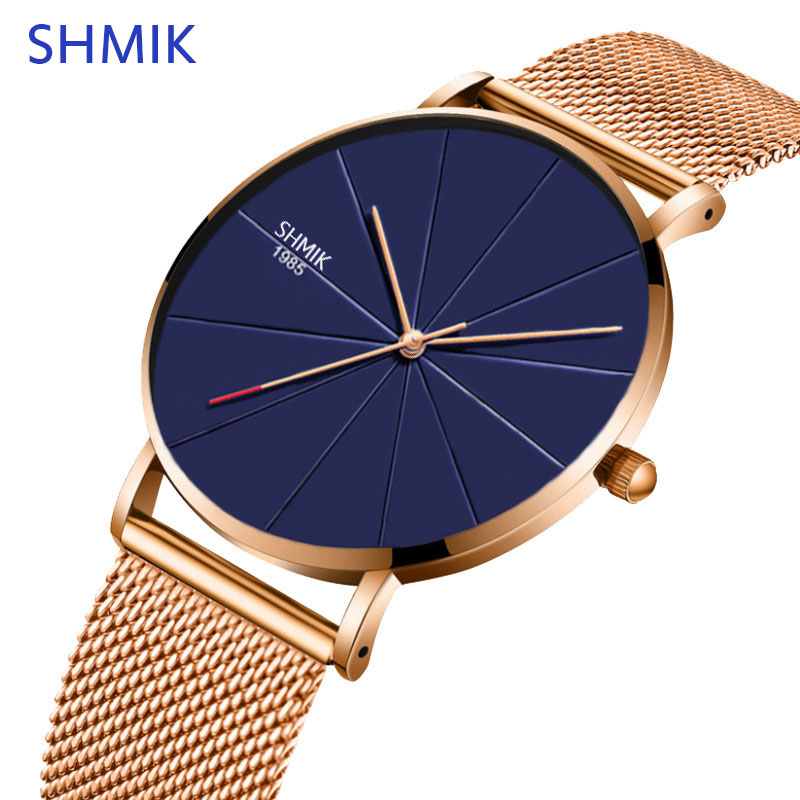 High Quality Fashion Casual Watches Womens Classic Quartz Mesh Stainless Steel Wrist Watch Bracelet Watches For Woman