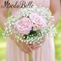 Звезды Искусственные Цветы Невесты Букет Белый Розовый Шелковый Букет Невесты Ручной с Цветами в Руках Невесты Свадебные Аксессуары