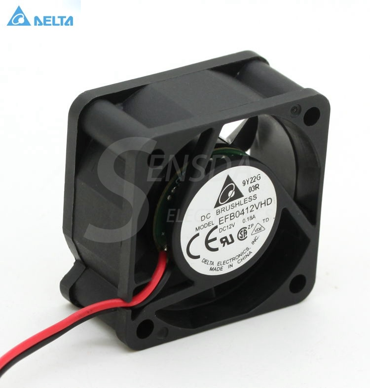Delta efb0412vhd  40mm 4020 DC 12v 0.18a 4cm server inverter computer cpu axial blower cooling fans free shipping wholesale original delta delta afb0912uhe f00 9238 90mm 12v 3 0a server axial powerful cooling fans