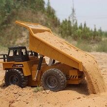 RC грузовик из сплава самосвал наклонная тележка 2,4G 4WD наконечник грузовик с дистанционным управлением шахтная машина электронная модель автомобиля 2020 новое хобби игрушки