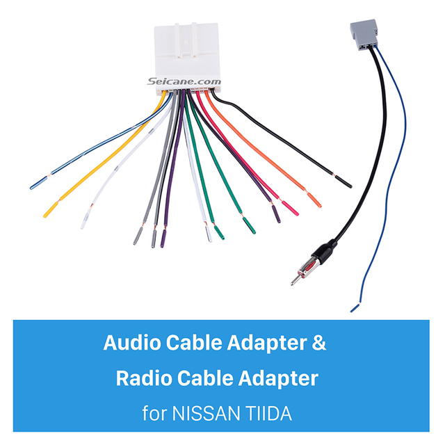seicane sound wiring harness audio cable adapter and radio cable rh aliexpress com wiring diagram nissan versa 2015 wiring diagram nissan versa 2015