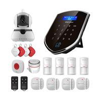 Wolf Guard Wireless 2.4G Wifi Home Alarm Security Burglar System GSM WIFI Host 720P IP Camera SOS Door/PIR Motion Detector