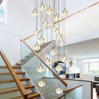 Moderne FÜHRTE Quadratische Kristall Kronleuchter Beleuchtung große hotel restaurant spirale treppe kronleuchter wohnzimmer cristal hängen lampen