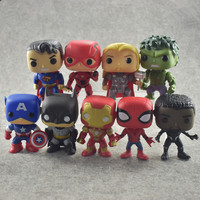 FUNKO POP DC Justice League & Marvel Avengers Hulk Iron Man Spiderman Logan Model Action Figure Collectible Model Toy For Gift