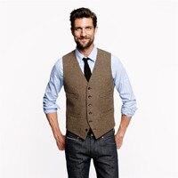 50a9c67b9226e CustoVintage Brown Tweed Vests Wool British Style Custom Made Mens Suit  Tailor Slim Fit Blazer Wedding. US $29.99. CustoVintage Kahverengi tüvit  Yelekler ...