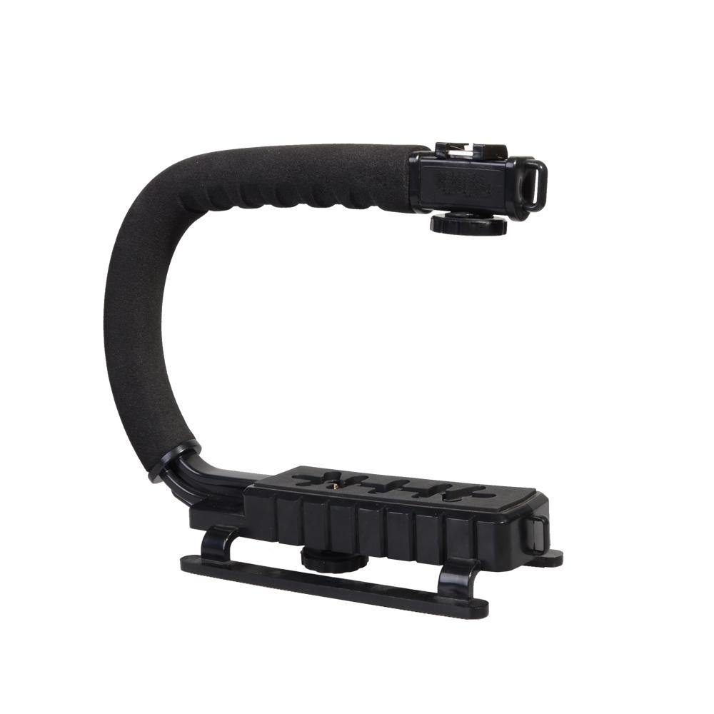 Prix pour Flash Bracket Poignée support de la Vidéo Portable Stabilisateur Grip pour DSLR REFLEX Caméra Téléphone Gopro AEE Mini DV Caméscope