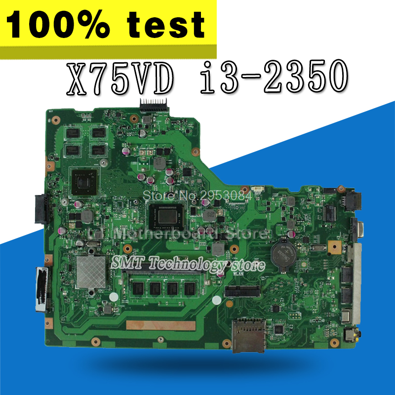 X75VD Motherboard REV3.1 i3-2350 GT610 4G For ASUS X75V X75VC X75VB Laptop motherboard X75VD Mainboard X75VD Motherboard test ok цены