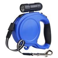 5M Large Dog Leash Big Dogs 9 LED Flashlight Auto Retractable Extending Handled Lead Pet Supplies