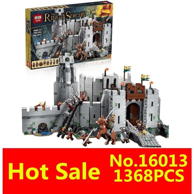ФОТО LEPIN 16013 1368pcs Lord of the Rings Series Battle Of Helm' Deep Model Building Blocks Bricks Mini Toys 9474 figures