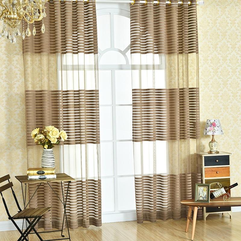 Translucidus brown beige modern simple polyester cloth for Tende color marrone