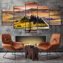 Seclusion Landscape Painting 5 Pieces Home HD Print Artwork The Wall Art Paintings Canvas Living Room
