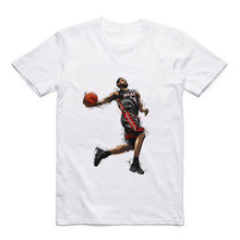 Round Collar Modal Sports T-Shirt Basketball James/Rose/Nowitzki/Westbrook Mens Casual White Top