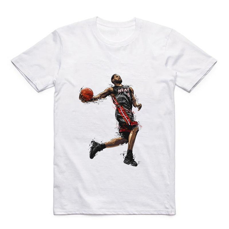 Round Collar Modal Sports T-Shirt Basketball James/Rose/Nowitzki/Westbrook Men's Casual White Top