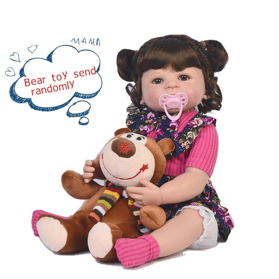 22 นิ้วตุ๊กตาเด็กทารกทั้งหมดซิลิโคนที่สมจริงตุ๊กตาเด็กแรกเกิดสวมใส่ Rose ชุดแฟชั่น Alive ตุ๊กตาเด็กทารก Reborn สำหรับสาววันเกิดของขวัญ-ใน ตุ๊กตา จาก ของเล่นและงานอดิเรก บน   2