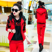 Autumn and winter 2019 New Fashion women suit warm women's tracksuits casual sets with a h