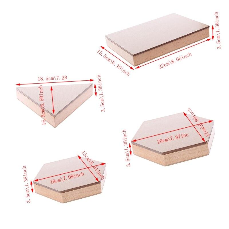 Montessori brinquedo material de madeira triângulos construtivos retangulares pentágono