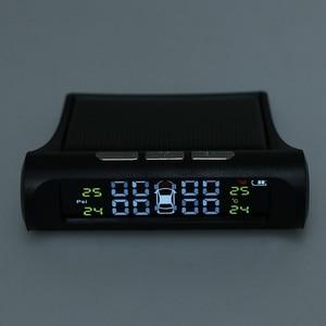 Image 4 - 1 セットスマート車 TPMS タイヤ空気圧監視システムデジタル液晶ディスプレイの警報システムタイヤ空気圧監視システム