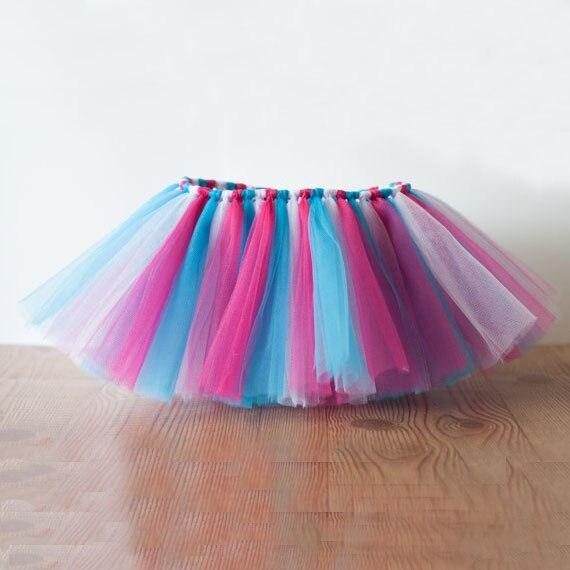 5b55c91b7 Venta caliente del Otoño de los niños de malla falda Del Tutú faldas del  tutú Hecho A Mano colores mezclados para niñas princesa pettiskirt danza  Disfraces ...