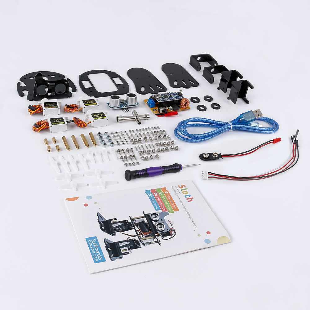 Image 5 - SunFounder DIY 4 DOF Robot Kit  Sloth Learning Kit for Arduino Nano  DIY Robot-in Integrated Circuits from Electronic Components & Supplies