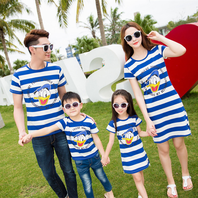 2018 summer mother father baby son clothes family matching