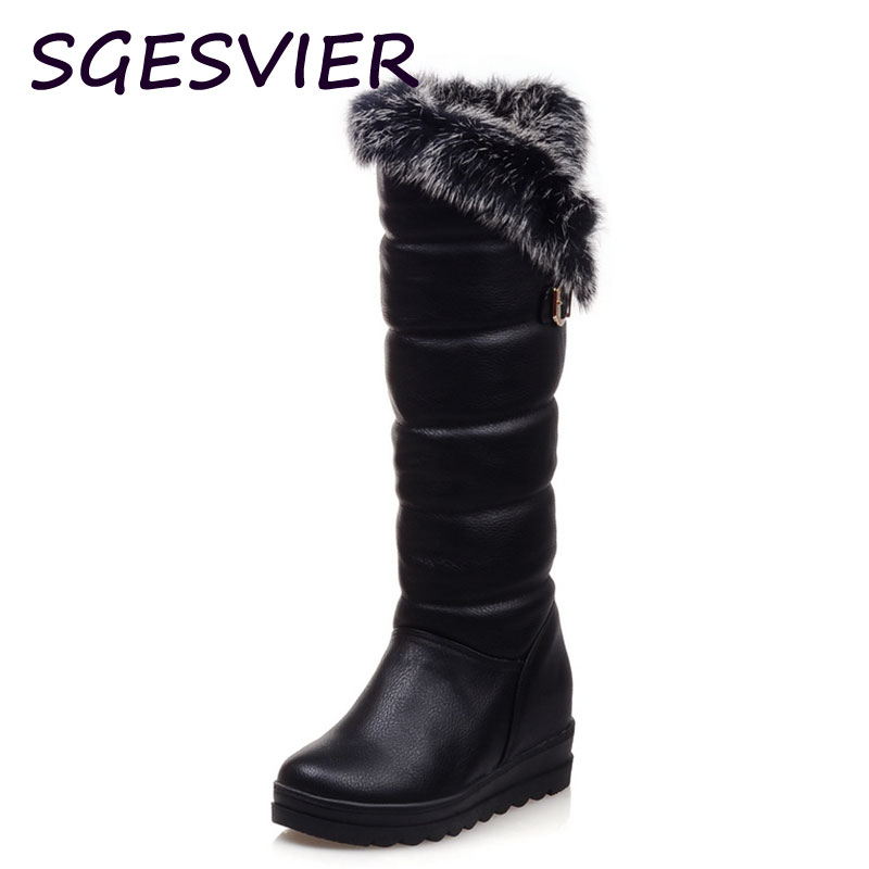 ФОТО 2015 Winter Autumn New Feathers Knight Knee Boots Women Fashion Slip-On Height Increasing shoes Ankle boots big size 34-42 R1548