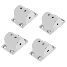 4 Pieces Heavy Duty Mirror Polished 316 Stainless Steel Boat Hand Rail Fitting 1 Rectangular Base