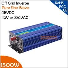 1500 Вт 48VDC решетки инвертор, усилитель 3000 Вт для 110 впрт или 220 впрт бытовой техники в Солнечной или ветровой электросистеме