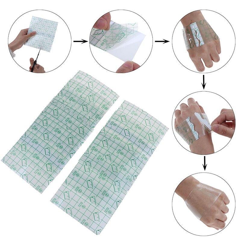 10pcs Transparent Medical Tape Adhesive Plaster Breathable Waterproof Anti-allergic Medicinal Wound Dressing Fixation Bandage