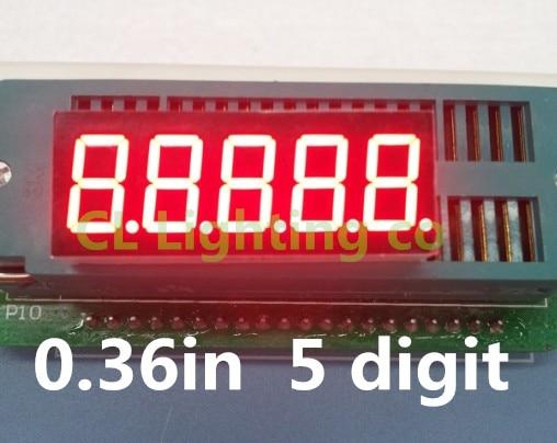 5 цифры 7 сегмент