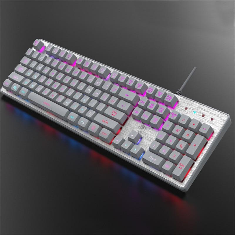 newest backlight usb wired gaming keyboard 104 keys professional mechanical keyboards for tablet. Black Bedroom Furniture Sets. Home Design Ideas