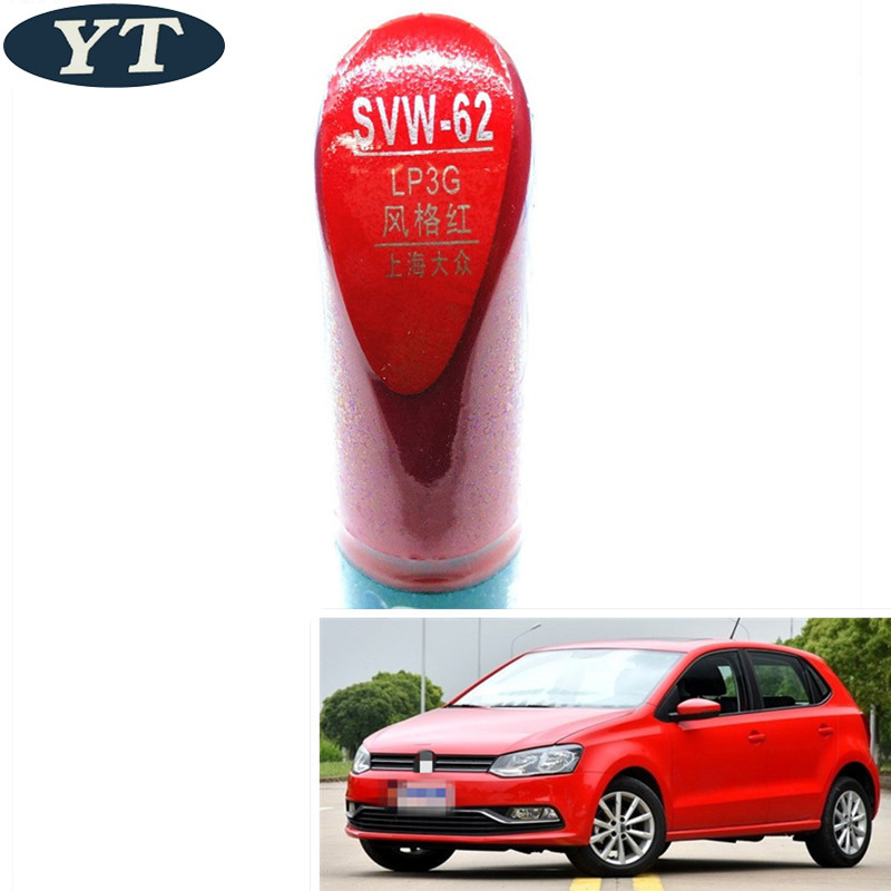 Polo5 Polo Hatchback 5 Door 5th Generation Polo: Car Scratch Repair Pen, Auto Painting Pen RED Color For
