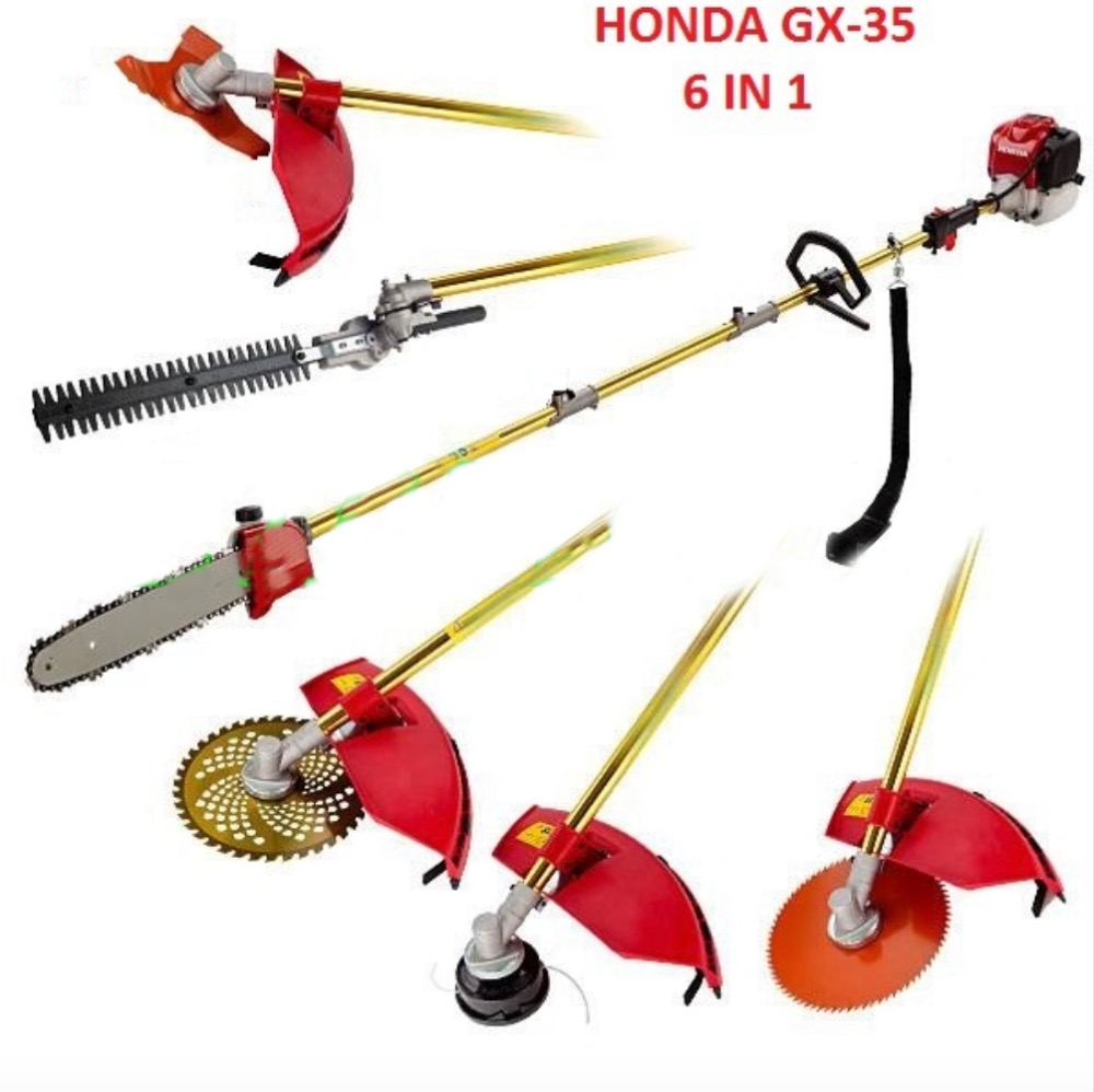 GX35 gasoline hedge trimmer 6 in 1 brush cutter pole saw pole trimmer whipper snipper in Lawn Mower from Tools