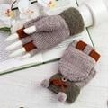 Moda Inverno Malha Luvas Sem Dedos Luvas de Pulso Macio Morno Bonito sólidos das Mulheres Luvas Luvas Luvas 6 cor Ocasional A3189