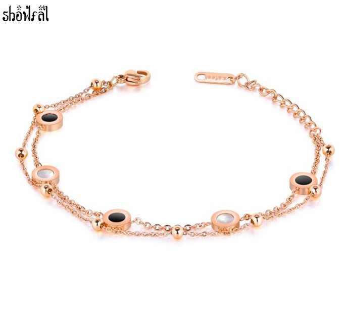Bulgaria Charm Stainless steel Bracelets Bangle Silver/Rose Gold Color Link Chain Round Bracelet For Women Gift Jewelry Pulseras