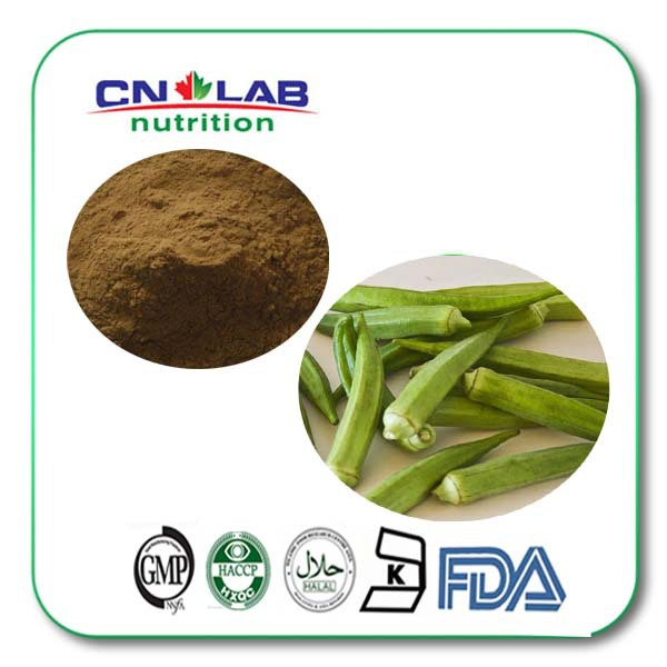 1kg Low Price 100% pure natural Okra Extract Powder 20:1