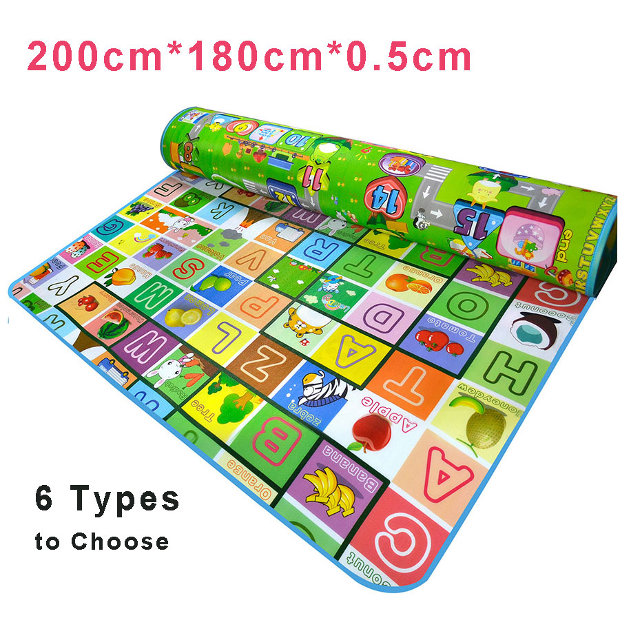 Kids Large Play Mat Rug Carpet Infant Children Bebe Gym Mat Playmat Baby Floor Games Mats Newest Safe Alphabet Mat Soft Toys