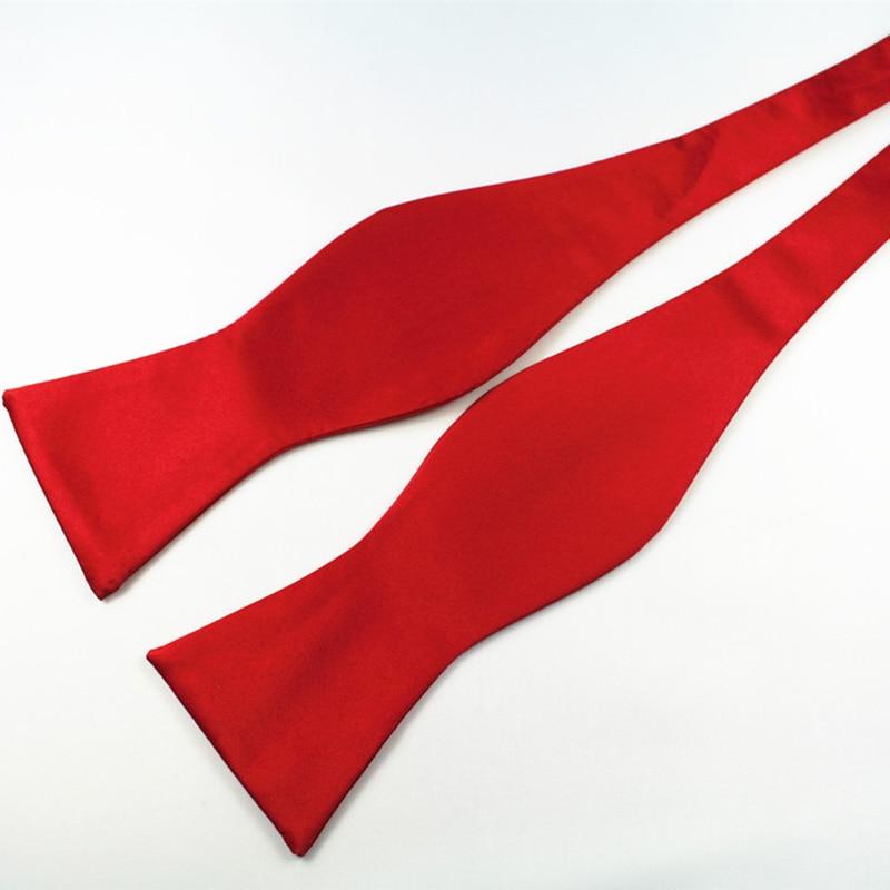 RBOCOTT Dasi kupu-kupu Diri Dasi pria Mode Warna Solid Bowtie - Aksesori pakaian - Foto 4