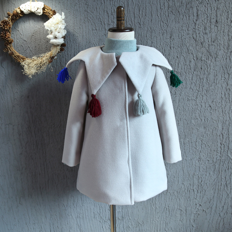 2016 autumn and winter new Korean girls personality star Lapel tassel broken coat thickening free shipping