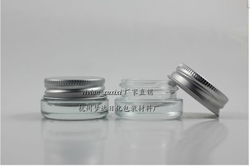 50 pieces wholesale High quality 5g transparent cream jar, empty 5g mini eye cream cosmetic jar, glass jar or cream container