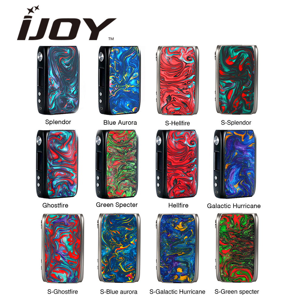 New Original IJoy Shogun Univ 180W Box Mod Powered By Dual 18650 Battery E cigs Vape