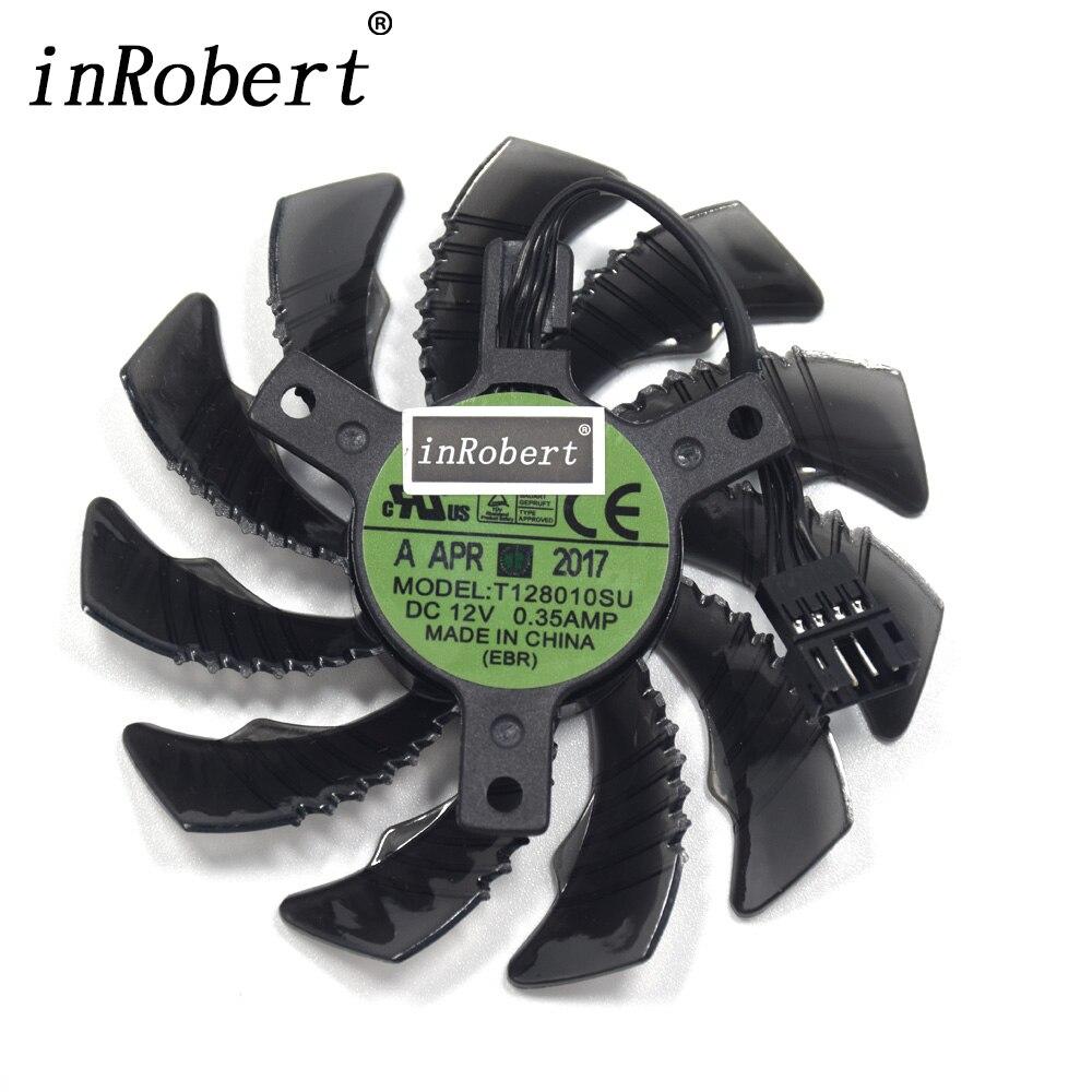 Nueva 75mm T128010SU PLD08010S12H 4Pin ventilador enfriador para Gigabyte GTX 960 970 980Ti GTX 1060 1070 1080Ti 1080 gráficos ventilador de la tarjeta