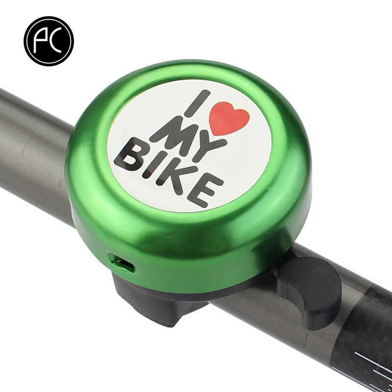 PCycling จักรยาน Bell ฉันรักจักรยานของฉันพิมพ์ Clear Sound อลูมิเนียมอัลลอย MTB ROAD BIKE ALARM คำเตือนแหวน Bell สำหรับเด็ก