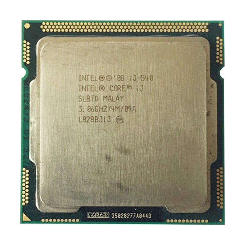 Intel Core I3 540 CPU LGA1156 Socket /3.06GHz /L3 4MB /dual-Core Processor TDP -73W /have A 1156  X3440 X3450 X3470