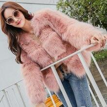 Whole skin natural fox fur and lamb fur patchwork jackets women short design slim real fur coats outerwear 2018 autumn winter