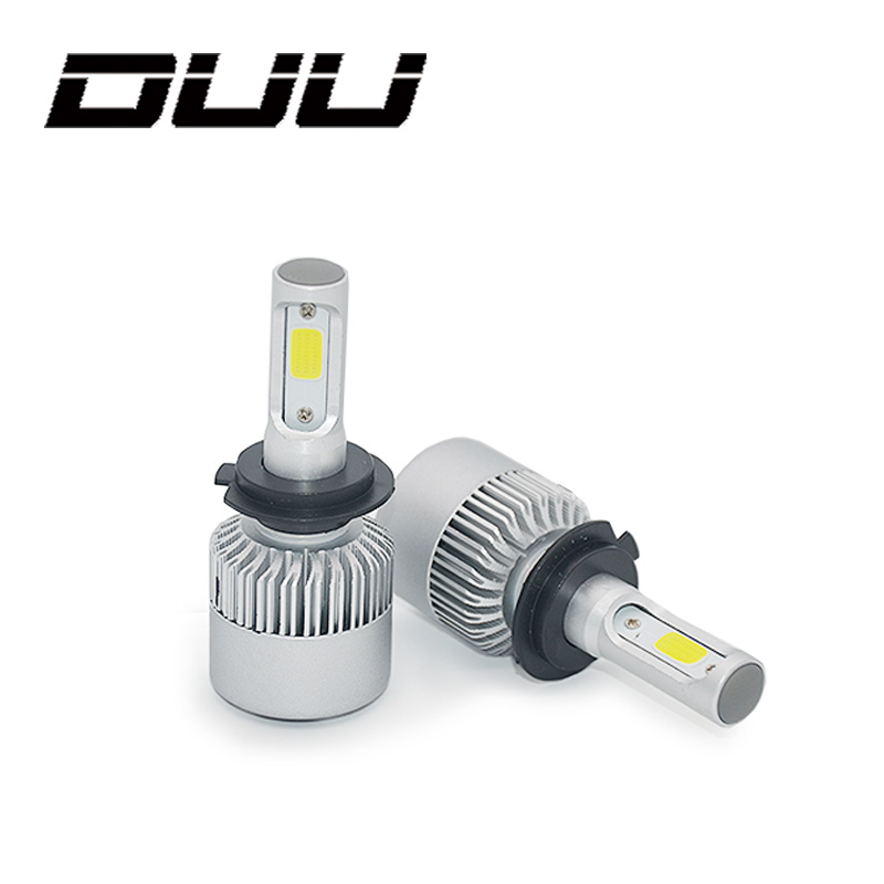 DUU Auto Scheinwerfer Lampen H7 H4 LED H8 H11 HB3 9005 HB4 9006 H1 H3 9012 H13 9007 S2 Auto scheinwerfer Nebel Licht COB Chip 12-24 v 60 watt
