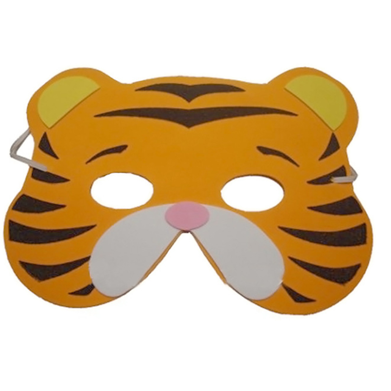 Image 3 - High Quality 12 pcs/lot New Fashion Handmade Children's Mask Animal Shape For Kids Party Decoration Mask Random Mixed-in Party Masks from Home & Garden